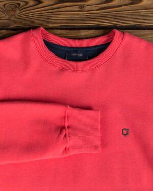 بلوز پنبه ای قرمز مردانه - گلبهی - آستین یقه