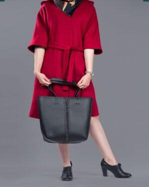 پالتو فوتر زنانه ساده آستین سرخود - قرمز - محیطی