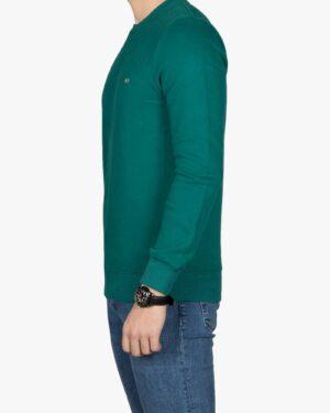 پلیور پنبه ای مردانه سبز آبی - سبزآبی تیره - بغل