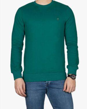 پلیور پنبه ای مردانه سبز آبی - سبزآبی تیره - رو به رو