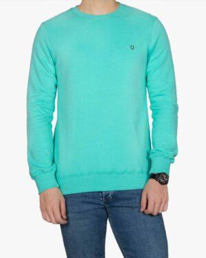 پلیور پنبه ای مردانه سبز آبی - سبزآبی روشن - رو به رو