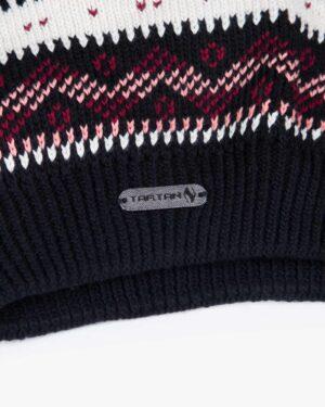 کلاه و شال گردن و دستکش بدون انگشت بافت - مشکی - برند تارتن