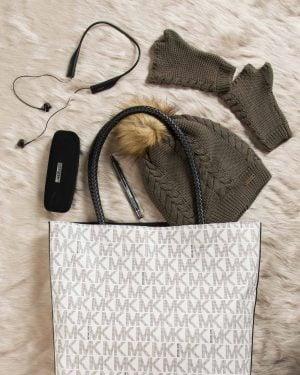کیف دوشی دخترانه اسپرت - سفید - محیطی