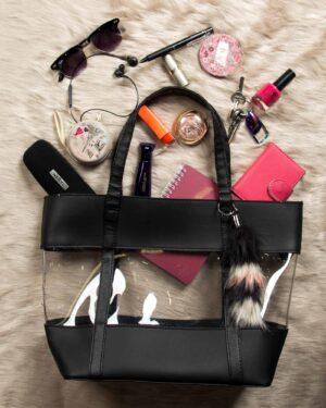 کیف طلقی زنانه دوشی - مشکی - محیطی حجم