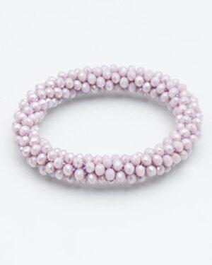 دستبند مهره کریستال کشی - یاسی روشن - دستبند زنانه