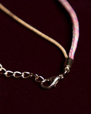 پابند زنانه کشی آویز دار - صورتی - قفل و زنجیر