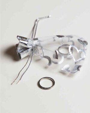 کیسه توری هدیه - سفید - محیطی کیسه