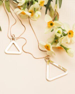 گردنبند آویز مثلث طلایی - طلایی - آویز مثلث