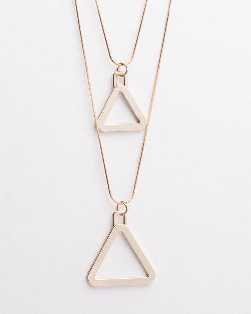 گردنبند آویز مثلث طلایی - طلایی - گردنبند زنانه