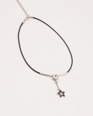 گردنبند دخترانه آویز ستاره - مشکی - گردنبند دخترانه