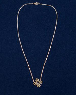 گردنبند طرح صلیب طلایی - طلایی - بالا