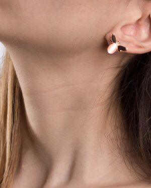 گوشواره دخترانه طرح زنبور - هلویی سیر - گوشواره دخترانه
