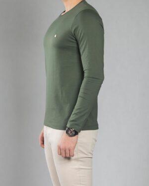 بلوز آستین بلند ساده مردانه - سبز تیره - بغل