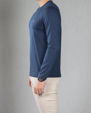 بلوز آستین بلند ساده مردانه - سرمه ای - بغل