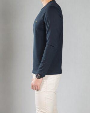 بلوز آستین بلند ساده مردانه - سرمه ای تیره - بغل