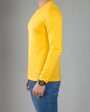 بلوز آستین بلند ساده مردانه - عسلی - بغل
