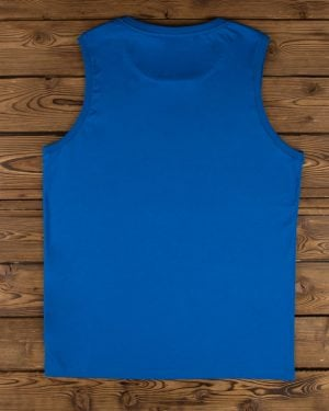 تاپ اسپرت مردانه ساده - آبی - پشت