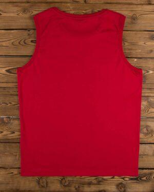 تاپ اسپرت مردانه ساده قرمز - قرمز - پشت