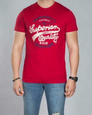 تی شرت مردانه طرح دار - قرمز - رو به رو