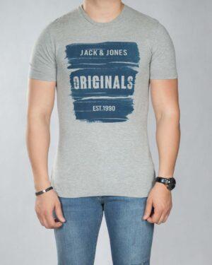 تی شرت نخی مردانه - ملانژ - رو به رو