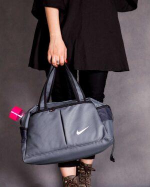 ساک ورزشی ساده مدل نایک - خاکستری - محیطی زنانه