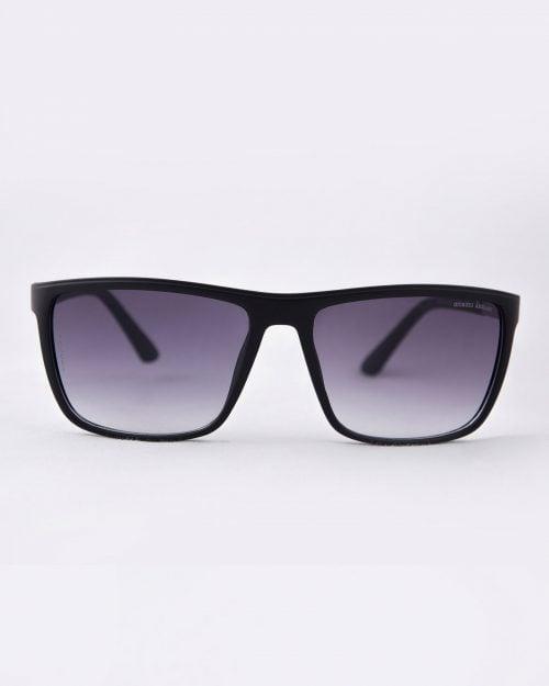 عینک آفتابی اسپرت مردانه مشکی - مشکی - رو به رو