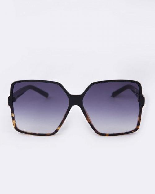 عینک آفتابی زنانه فریم بزرگ - مشکی - روبه رو
