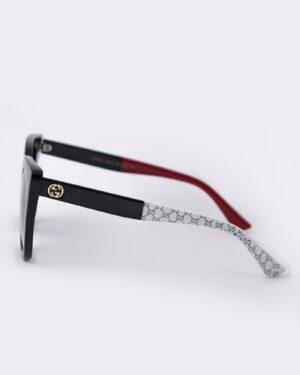 عینک آفتابی زنانه مدل گوچی - مشکی - بغل