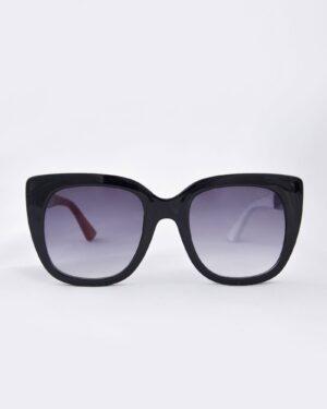 عینک آفتابی زنانه مدل گوچی - مشکی - رو به رو