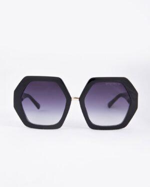 عینک آفتابی شش ضلعی زنانه - مشکی - رو به رو