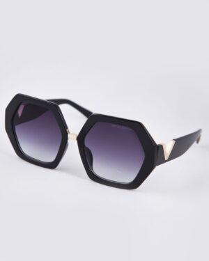 عینک آفتابی شش ضلعی زنانه - مشکی - مایل