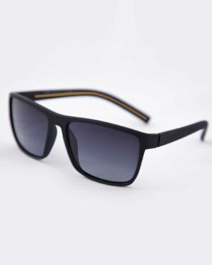 عینک آفتابی طبی مردانه مشکی - زرد - سه رخ