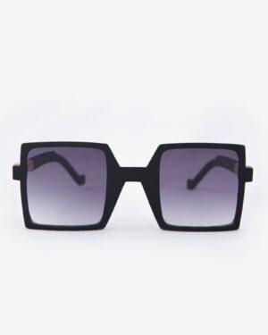 عینک آفتابی مربعی زنانه مشکی - دودی تیره - رو به رو