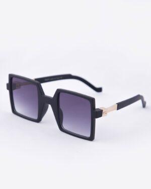 عینک آفتابی مربعی زنانه مشکی - دودی تیره - مایل