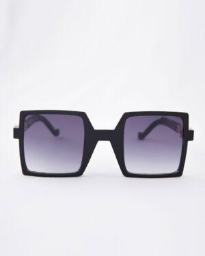 عینک آفتابی مربعی زنانه مشکی - مشکی - رو به رو