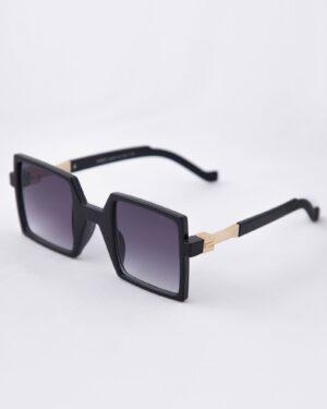 عینک آفتابی مربعی زنانه مشکی - مشکی - سه رخ