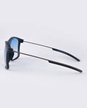 عینک آفتابی مردانه شیشه آبی - سرمه ای - بغل