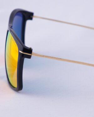 عینک آفتابی مردانه شیشه رنگی - مشکی - بغل