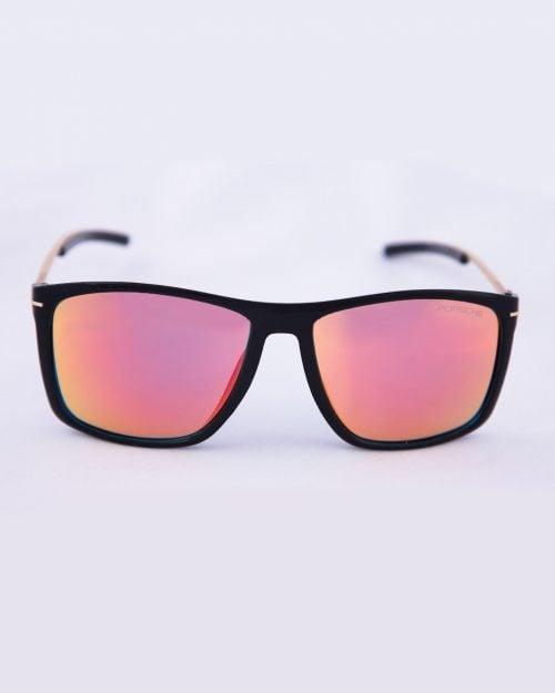 عینک آفتابی مردانه شیشه رنگی - مشکی - رو به رو