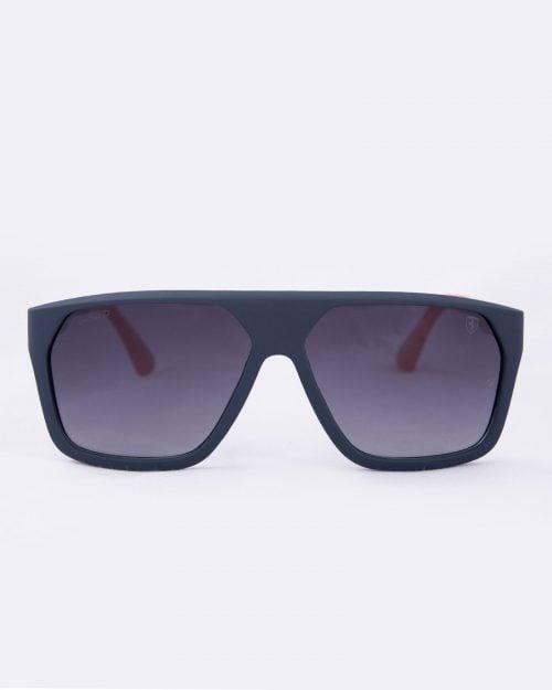 عینک آفتابی مردانه فریم بزرگ - سرمه ای - رو به رو