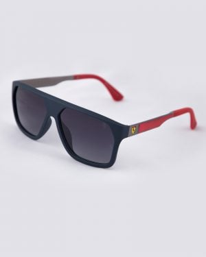 عینک آفتابی مردانه فریم بزرگ - سرمه ای - سه رخ
