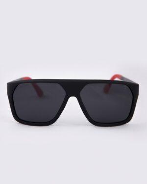 عینک آفتابی مردانه فریم بزرگ - مشکی - رو به رو
