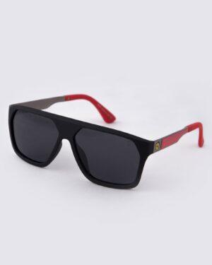عینک آفتابی مردانه فریم بزرگ - مشکی - سه رخ