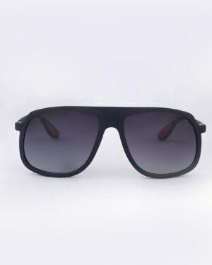 عینک آفتابی مردانه مدل ریبن - سرمه ای - رو به رو