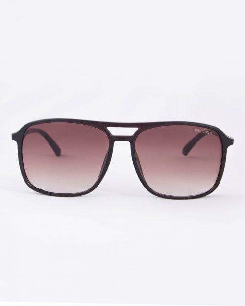 عینک آفتابی مردانه مدل پلیس - قهوه ای - رو به رو