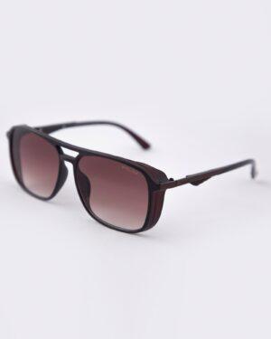 عینک آفتابی مردانه مدل پلیس - قهوه ای - مایل