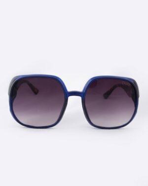 عینک آفتابی پلنگی زنانه - مشکی - رو به رو