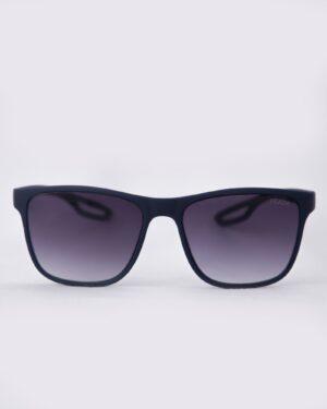 عینک دودی مردانه اسپرت - سرمه ای تیره - رو به رو