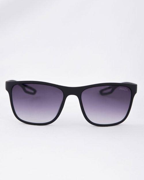 عینک دودی مردانه اسپرت - مشکی - رو به رو
