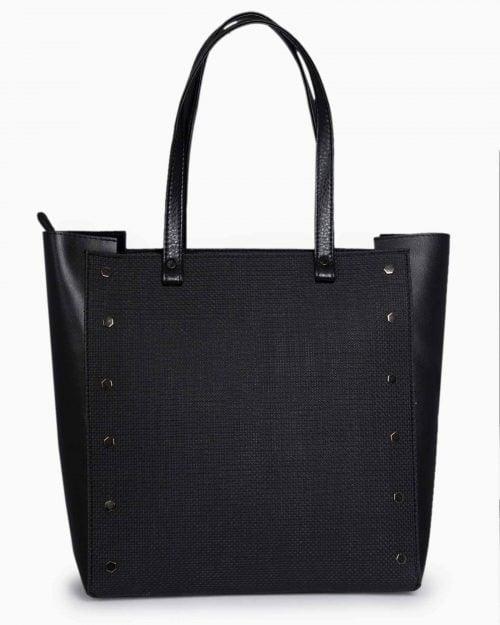 کیف دستی روزمره زنانه مشکی - مشکی - رو به رو